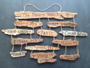 Custom Hanging Driftwood Collage