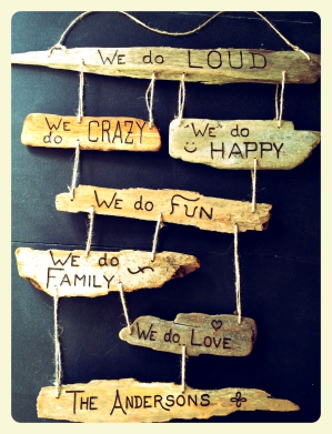 Family Rules Custom Driftwood Collage