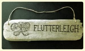 Engraved Company Logo on Driftwood