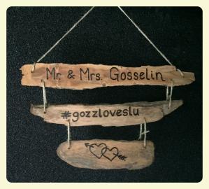 Custom Engraved Wedding Gift Driftwood Sign
