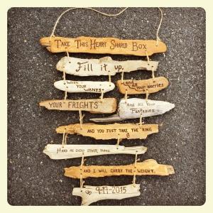 Custom Driftwood Sign With Song Lyrics