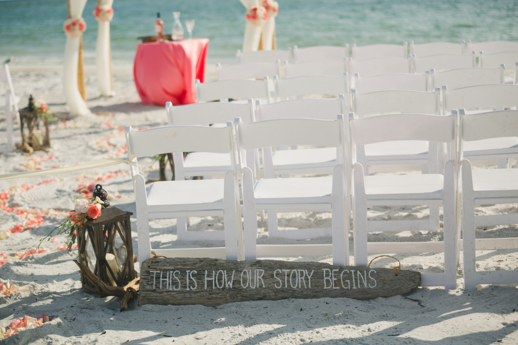 Destination Wedding Beach Sign